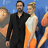 Emma Stone In Orange Dress & Nicolas Cage: The Croods Movie