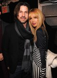 Rachel Zoe snuggled up to Rodger Berman.