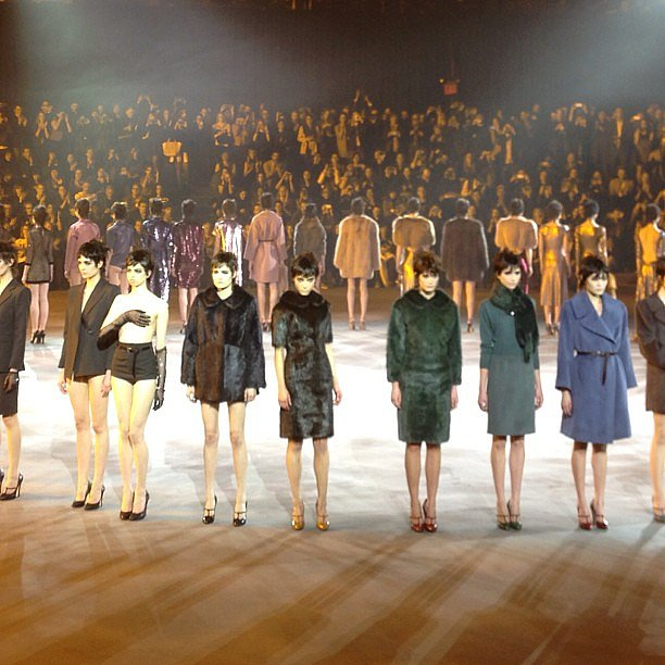 Marc Jacobs closed out NYFW with an epic Armory circle.