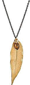 Julie Tuton Long Leaf Gem Necklace