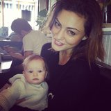 Phoebe Tonkin held her friend's baby. Source: Instagram user phoebejtonkin