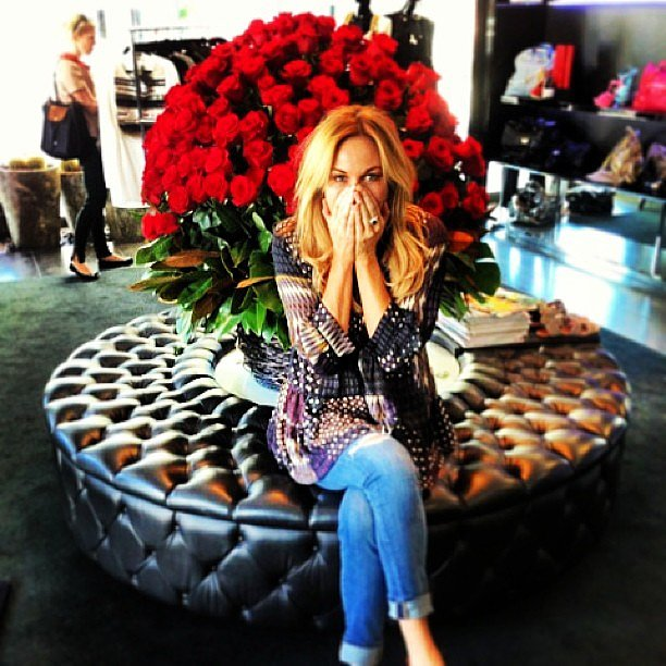 Charlotte Dawson was thrilled with her Valentine's Day roses. Source: Instagram user mscharlotted