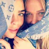 Lara Bingle and Bambi Northwood-Blyth got close for a photo. Source: Instagram user mslbingle