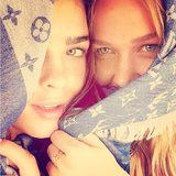 Stef Bambi and Lara Bingle showed of their baby blues in this cute snap. Source: Instagram user mslbingle