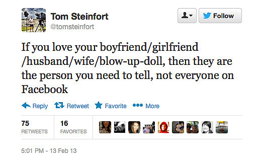 Journalist Tom Steinfort isn't such a fan of online PDAs.