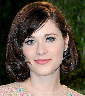 Zooey Deschanel Oscars Party 2013 Hair