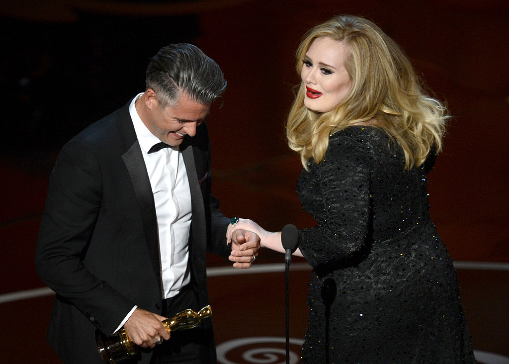 Adele accepted her award with Paul Epworth.