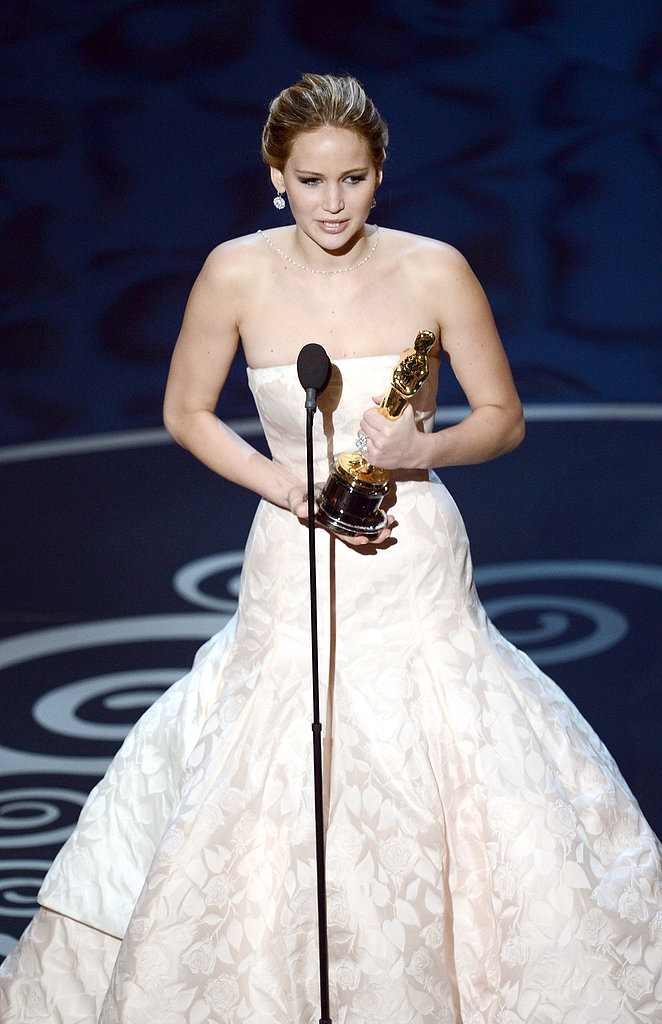 Jennifer Lawrence won best actress at the 2013 Oscars.