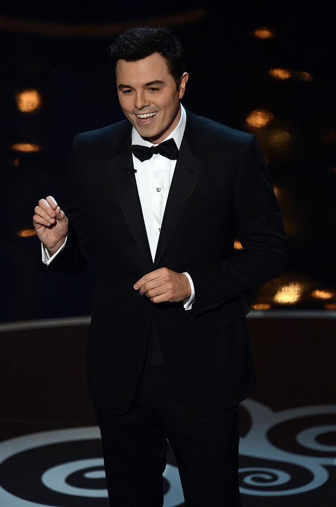 Seth MacFarlane gave his opening monologue at the 2013 Oscars.