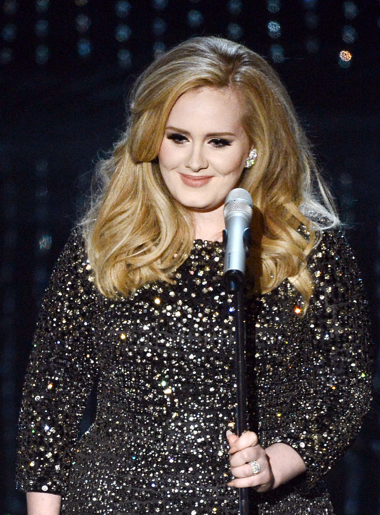 Adele sang at the 2013 Oscars.