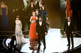The cast of Les Misérables sang a number at the 2013 Oscars.