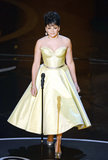 Norah Jones sang at the 2013 Oscars.