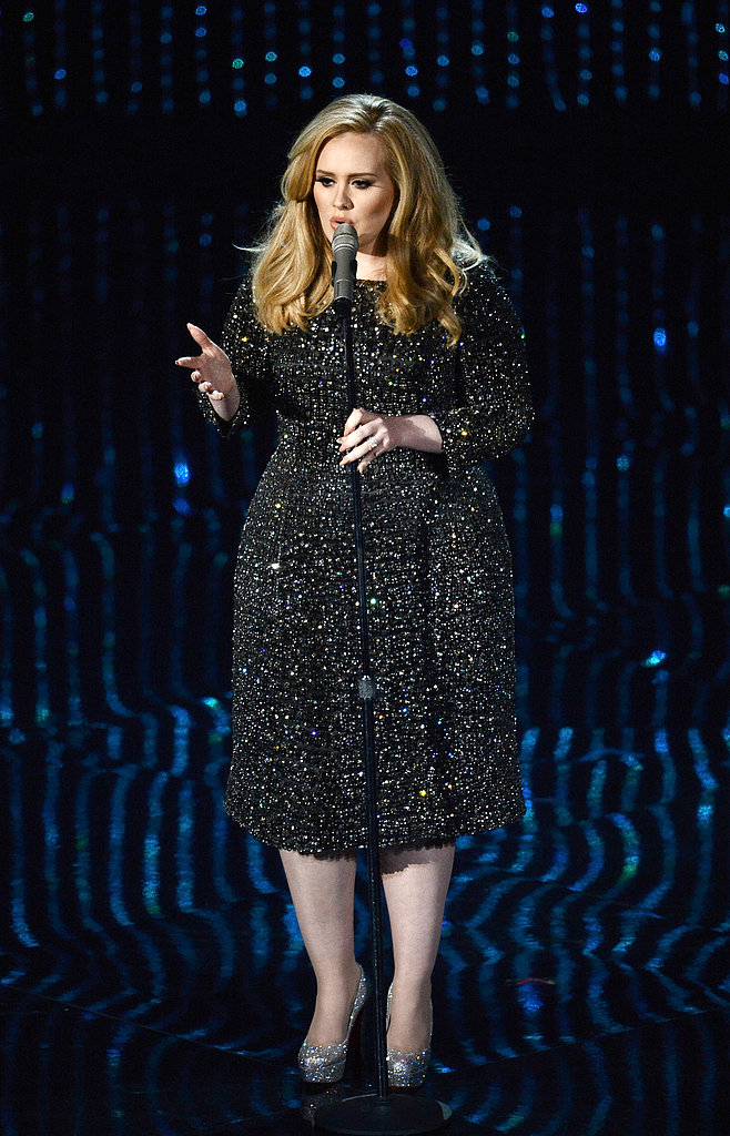 "Adele sang ""Skyfall"" at the 2013 Oscars."