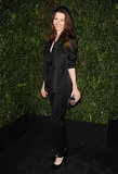 Talulah Riley went all-black for the Chanel event.