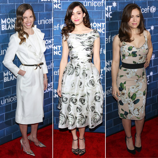 Celebrities at Mont Blanc & UNICEF Pre-Oscars Party