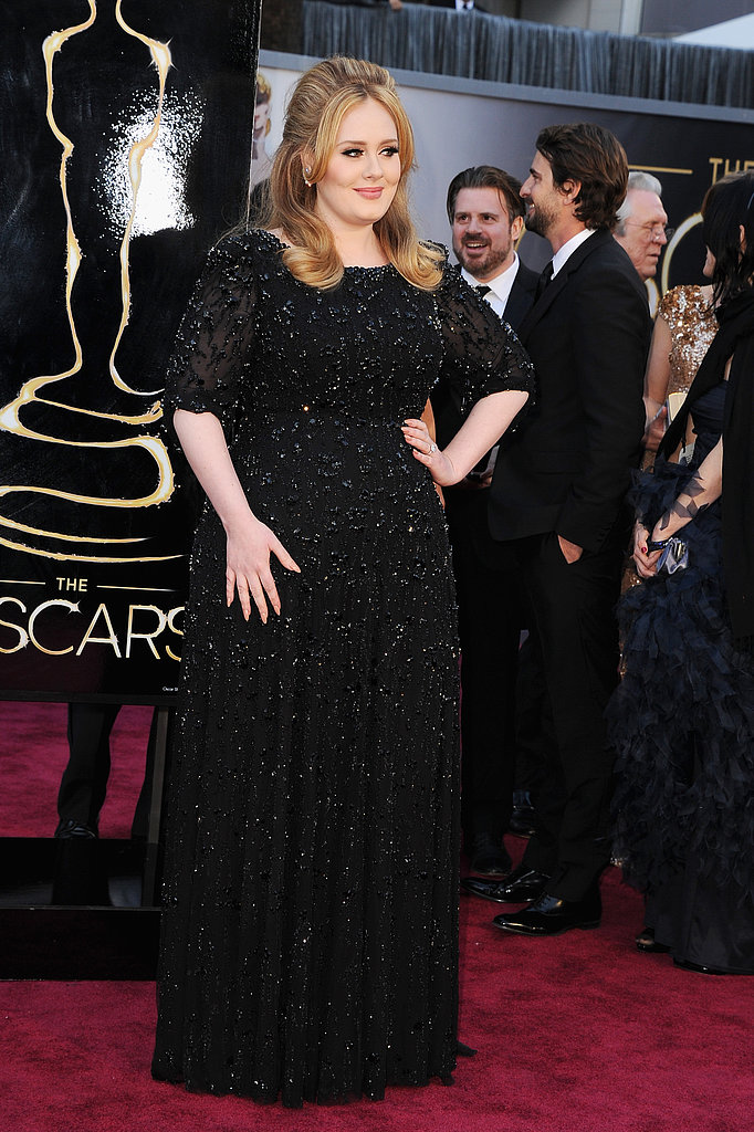 Adele Says Hi to Jen and Justin on the Oscars Red Carpet