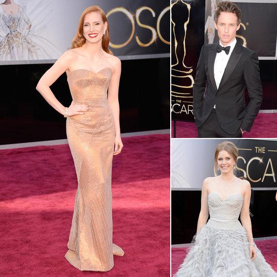 Stars on the Oscars Red Carpet 2013