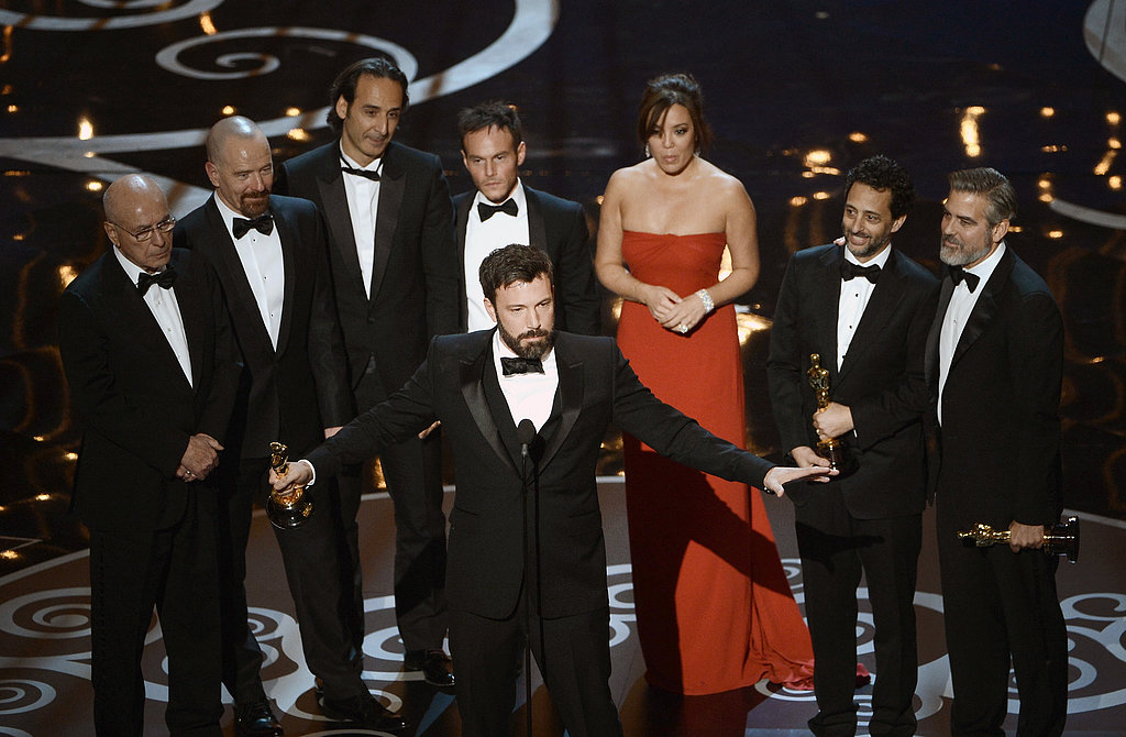 Ben Affleck took the stage to give his acceptance speech at the Oscars.