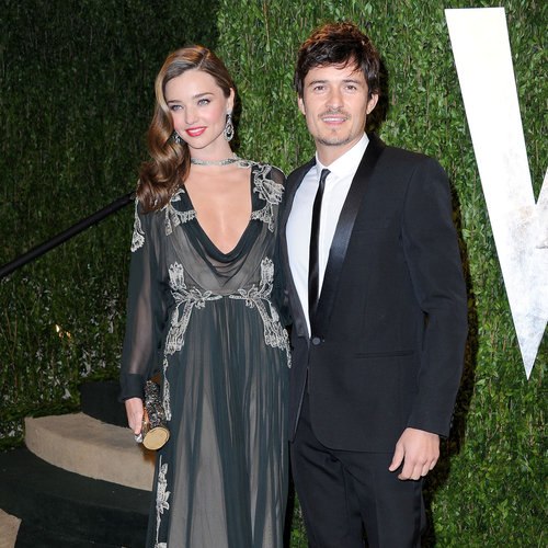 Miranda Kerr, Orlando Bloom at Vanity Fair Oscars Party 2013