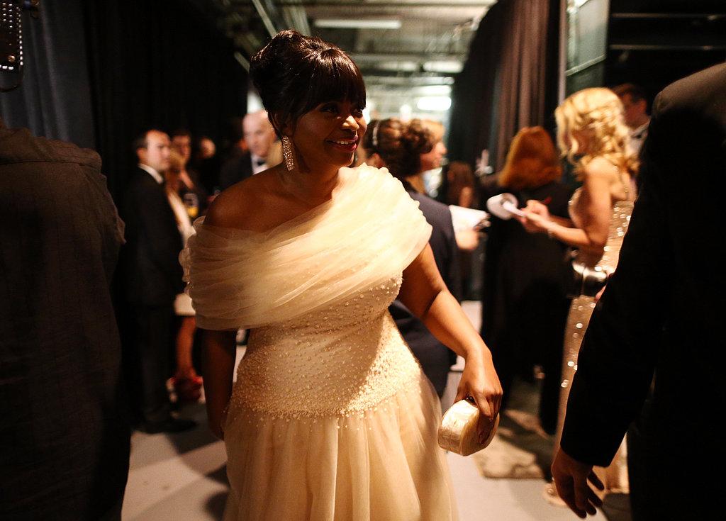 Octavia Spencer backstage at the 2013 Oscars.