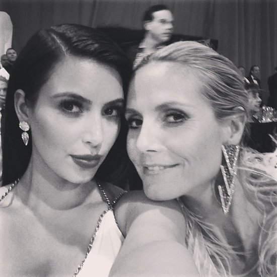 Kim Kardashian and Heidi Klum snapped a photo at an after party. Source: Instagram user kimkardashian