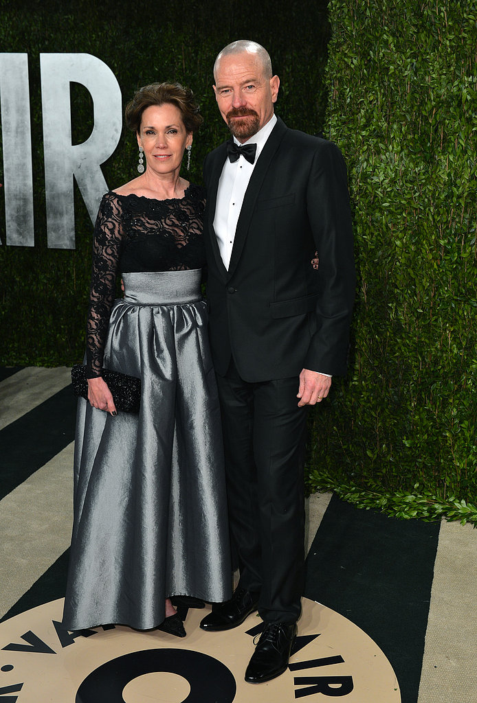 Bryan Cranston and Robin Dearden arrived at the Vanity Fair Oscar party on Sunday night.