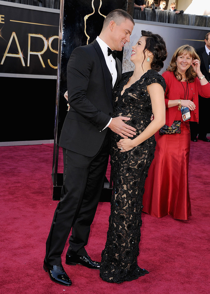 Channing Tatum and Jenna Dewan at the 2013 Oscars.