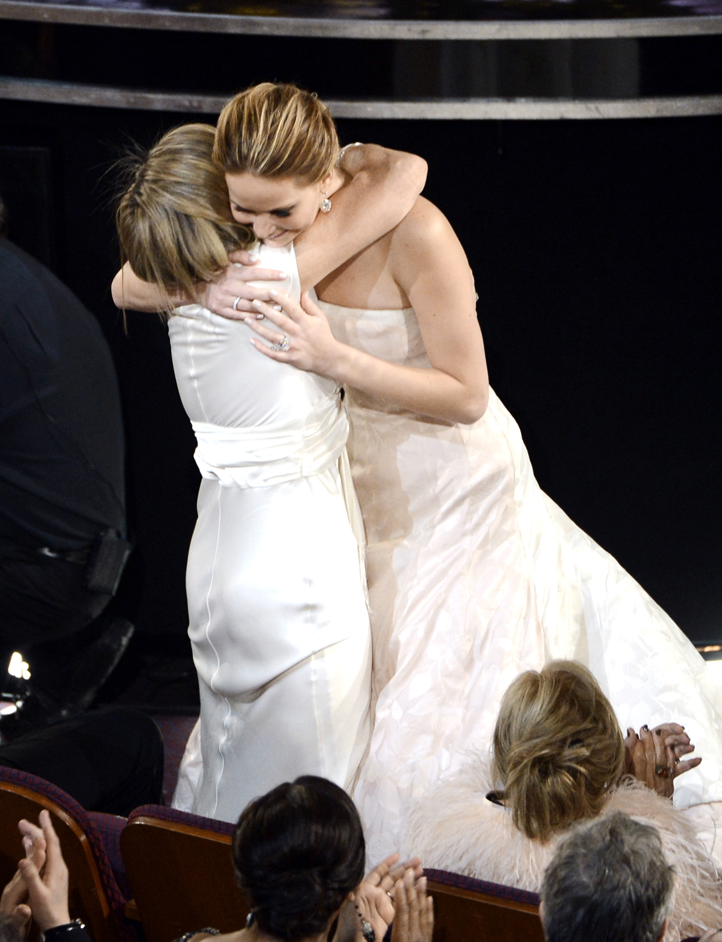 Jennifer Lawrence got a hug