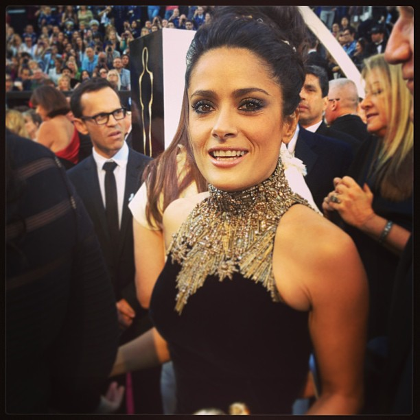 Salma Hayek hit the red carpet at the Oscars. Source: Instagram user theacademy