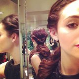 Emmy Rossum showed off her hairdo for a pre-Oscars bash on Saturday. Source: Instagram user emmyrossum