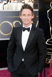 Eddie Redmayne on the red carpet at the Oscars 2013.