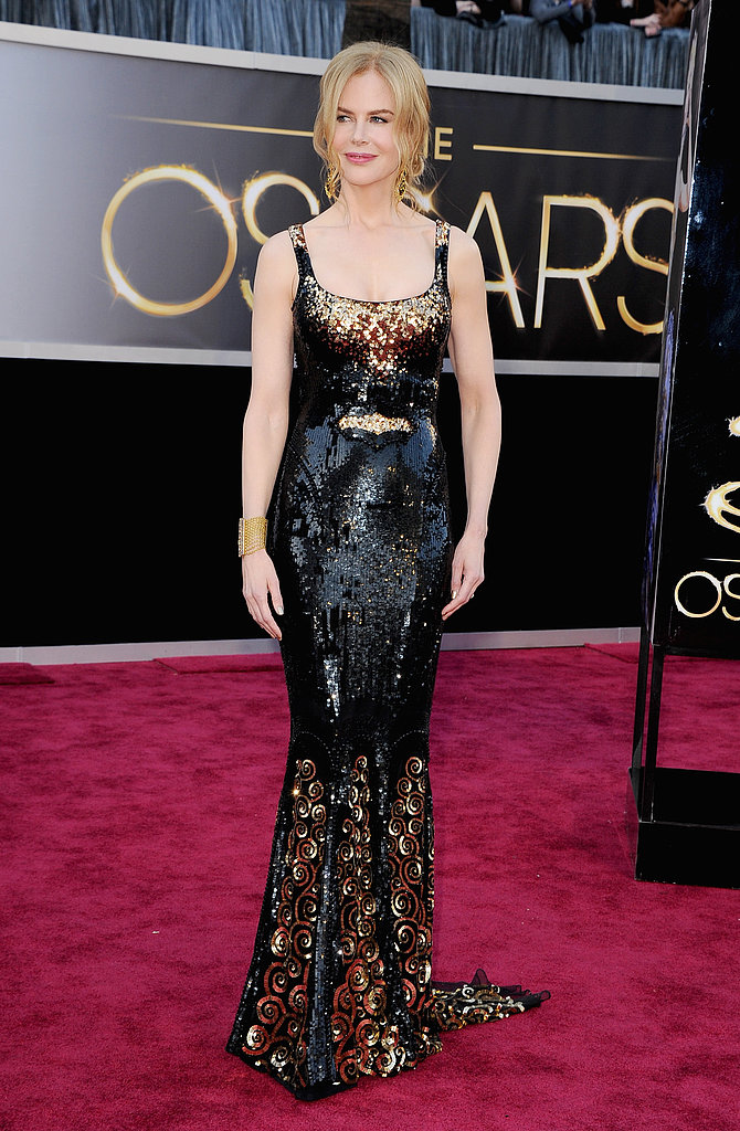 Mom of four Nicole Kidman wore a sparkly L'Wren Scott gown on the red carpet at the Oscars.