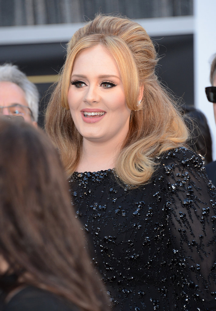 Adele on the red carpet at the Oscars 2013.