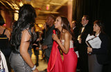 Jennifer Hudson, Kerry Washington, and Jamie Foxx backstage at the 2013 Oscars.