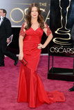 Marcia Gay Harden on the red carpet at the Oscars 2013.