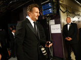 Liam Neeson backstage at the 2013 Oscars.