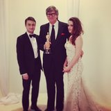 Kristen Stewart posed in Reem Acra — without her crutches. Source: Instagram user theacademy