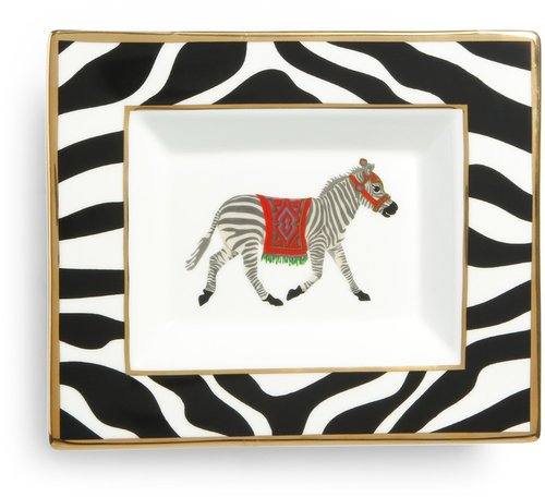 Zebra Rectangular Ceramic Plate