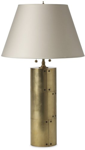Riveted Metal Table Lamp