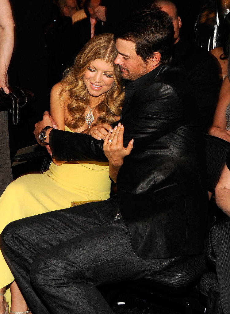 Josh Duhamel wrapped his arms around Fergie at the Grammys in February 2008.