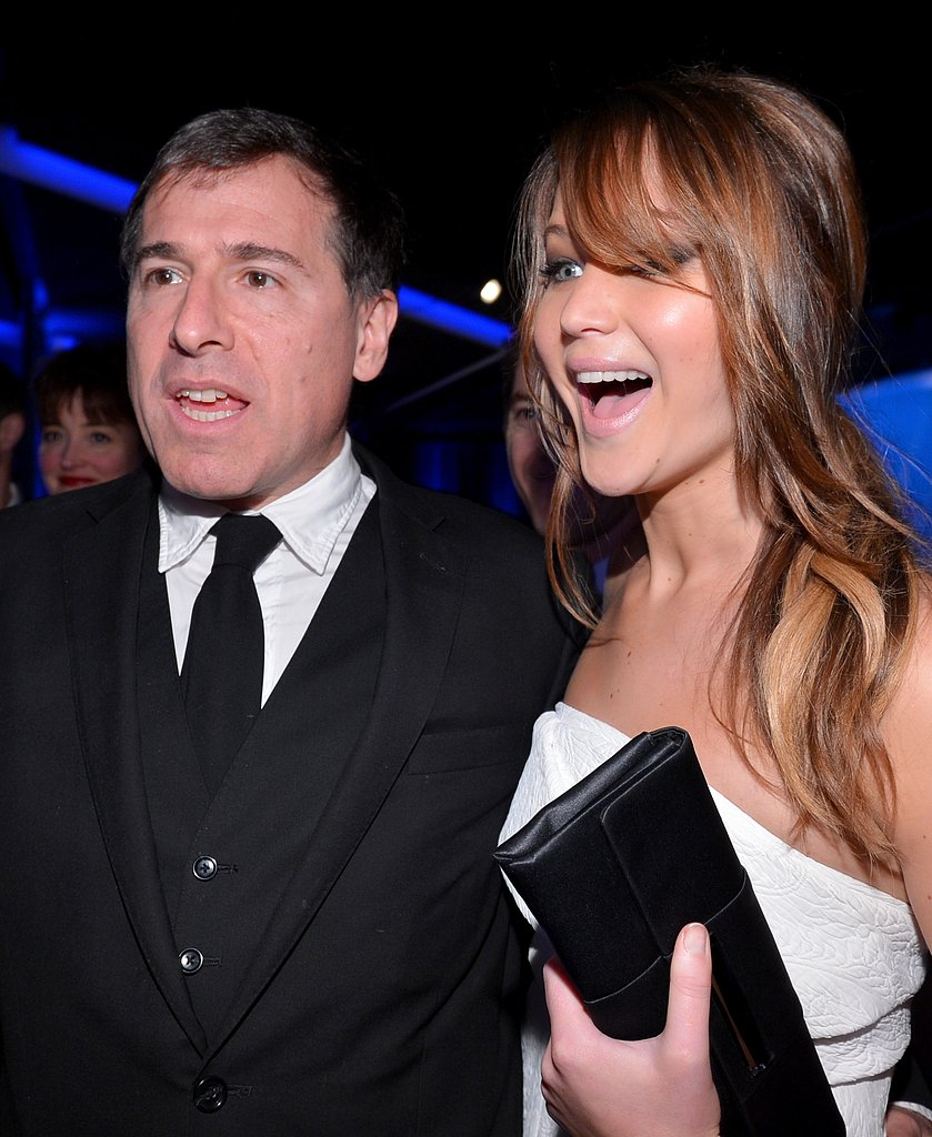 Silver Linings Playbook director David O. Russell and Jennifer Lawrence were side by side for the Oscars Luncheon in Beverly Hills in February.