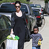 Sandra Bullock Taking Louis to a Birthday Party