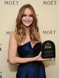 Jennifer Lawrence won the outstanding performer of the year award at the 2013 Santa Barbara Film Festival in February.