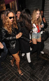 Rihanna arrived at The Box nightclub with Cara Delevingne in February during London Fashion Week.