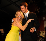 Fergie and Josh Duhamel cuddled up at the May 2011 FiFi Awards in NYC.