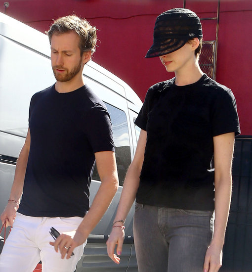 Anne Hathaway and Adam Shulman went shopping for their home in LA.