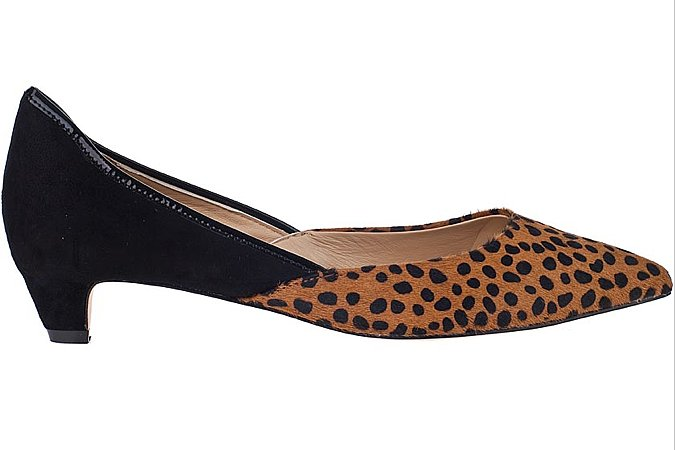 Here's one slick way to spice up your 9-to-5 wardrobe. Diane von Furstenberg's Alice pump ($278) offers up a wearable shoe with a cool, cheetah-print calf-hair finish. Pair it with tapered trousers and a crisp blouse, and consider your office attire taken care of.