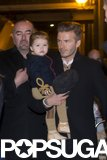 David Beckham and Harper left dinner in London in February.