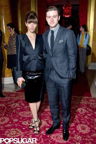Jessica Biel and Justin Timberlake attended the Tom Ford show during London Fashion Week in February.