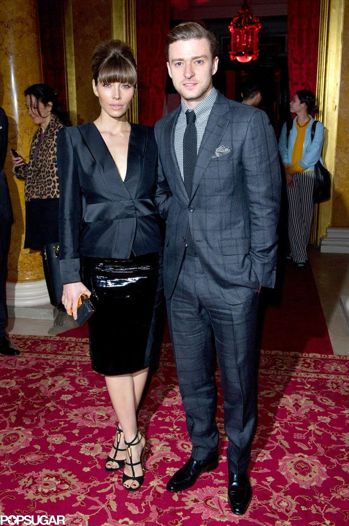 Jessica Biel and Justin Timberlake attended the Tom Ford show on Monday.